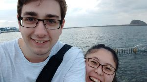 me and natsumi at 中島 in 北海道